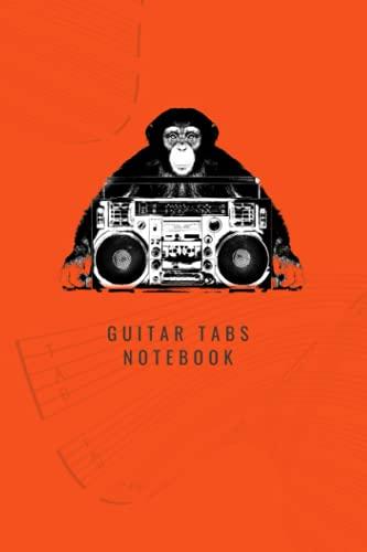 Guitar Tabs Notebook: Jungle Music - Orange