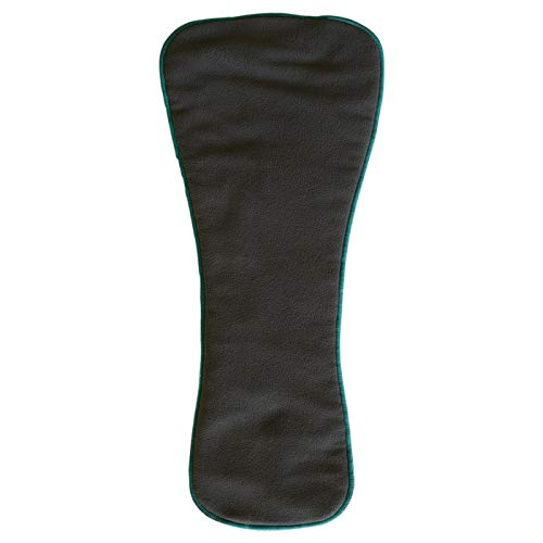 Teen/Adult Charcoal Bamboo Insert: for Incontinence Cloth Diapers 1-pack (Snap-in Insert ONLY,Extended)