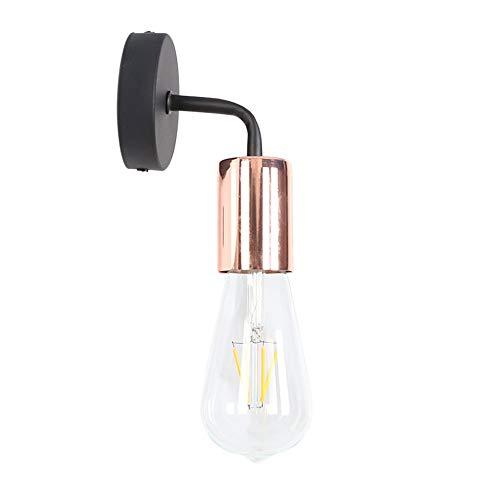 Industrielle Wandleuchte Modern Strahler E27 Lampenfassung Wandlampe Flur Deco Wandbeleuchtung Rose Gold