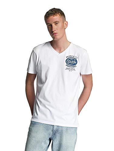 Petrol Industries Herren Oberteile / T-Shirt Rude weiß 2XL