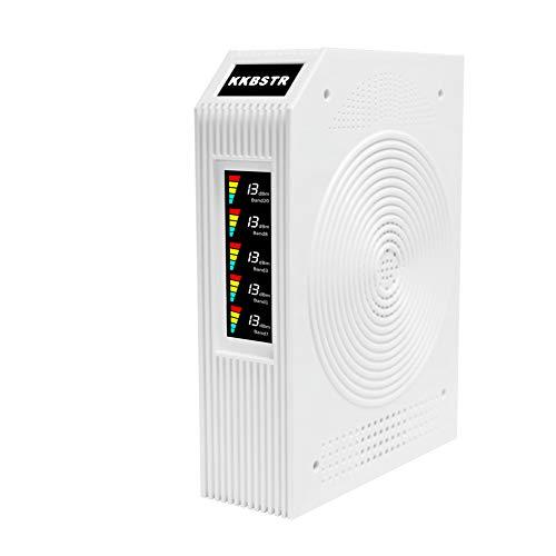 KKBSTR Amplificatore di Segnale 2G 3G 4G LTE, Ripetitore di Segnale 5 Bande 800/900/1800/2100/2600 MHz, Funziona con Tutti Gli Operatori