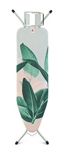 Brabantia Board B, stoom strijkijzeren plank, mint frame, staal, tropische bladeren,