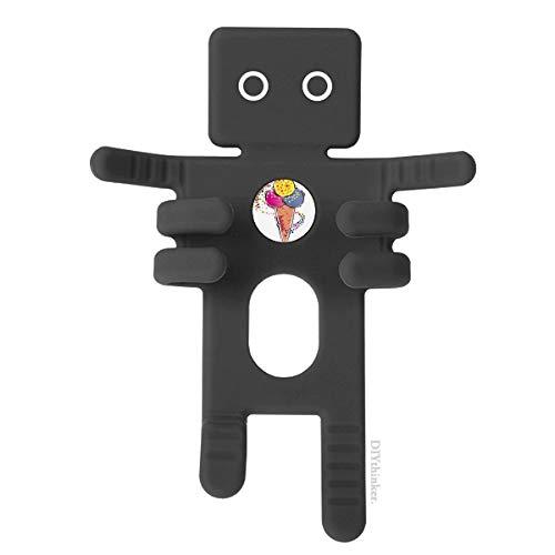 DIYthinker Rot, Gelb, Blau EIS Ball Element Illustration Schwarz-Telefon-Einfassung Auto-Armaturenbrett-Halter für Handy-Geschenk
