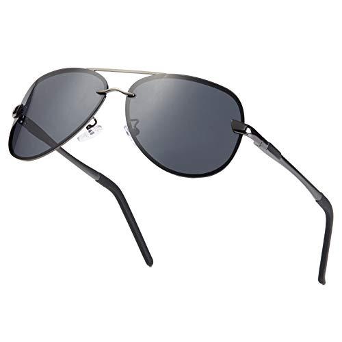 Muco gepolariseerde zonnebril voor piloots, uniseks, UV-bescherming, voor outdoor-rijden, met etui