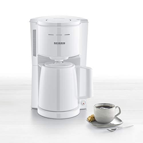 SEVERIN KA 9254 Filterkaffeemaschine mit Thermokanne, ca. 1.000 W, bis 8 Tassen, Schwenkfilter 1 x 4 mit Tropfverschluss, automatische Abschaltung, Durchbrühdeckel