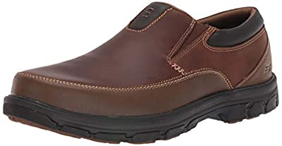 Skechers USA Men's Segment The Search Slip On Loafer, Dark Brown, 11.5 M US