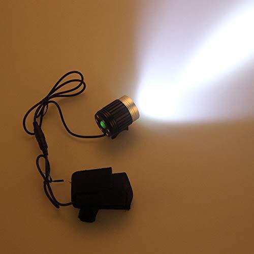 Glowjoy LED Stirnlampe,10000LM 3x CREE XML U2 LED Kopfleuchte 10000LM 3x CREE XML U2 LED Kopf Fahrrad Scheinwerfer Lampe Licht Scheinwerfer Taschenlampe für Outdoor Sport Joggen Laufen