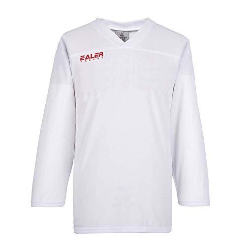 EALER Eishockey-Trainingstrikot für Erwachsene, Netzstoff, leicht, Weiß, XXL