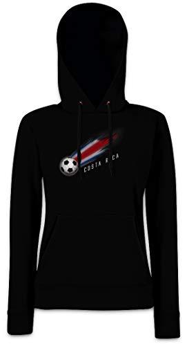 Urban Backwoods Costa Rica Football Comet I Hoodie Sudadera con Capucha para Mujer Negro Talla S