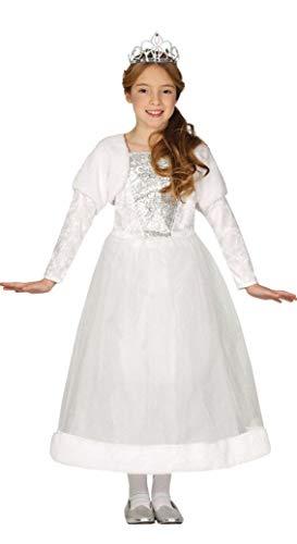 Guirca 88523 Prinzessin-Kostüm für Mädchen, Weiß, 5-6 anni