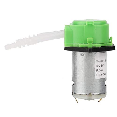 Keenso Peristaltische pomp, voor pomp, peristaltafel, doseermachine om te knutselen voor chemische analyse in het aquarium, groen, 24 V, 3 x 5 cm