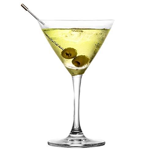 Verres Margarita Cup Martini Cup Verre À Cocktail Verre Personnalité Bar Coupe Set Champagne (Color : Clear, Size : C)