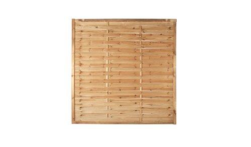 meingartenversand.de Zaun Discount 10 x Lamellenzaun Sichtschutzwände im Maß 180 x 180 cm aus Kiefer/Fichte Holz, druckimprägniert Hamburg