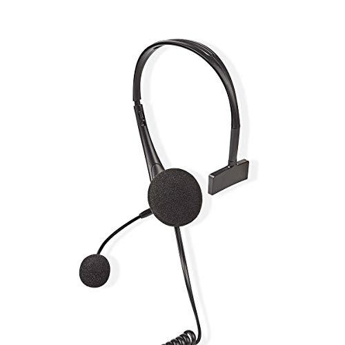 TronicXL Telefon Headset RJ9 RJ 9 Kopfhörer Mir Mikrofon + Noise Cancelling für Siemens Gigaset Panasonic Yealink Plantronics Avaya Aastra Alcatel Lucent Mitel Zubehör Festnetztelefon Festnetz