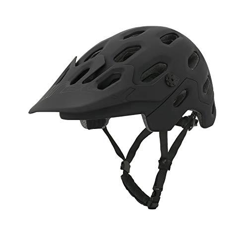 Zeroall Casco Bici Casco da Bicicletta Dimensioni Regolabili 58-62cm Donna Uomo Mountain Bike Helmet con Visiera Staccabile, Casco da Ciclismo per Bicicletta Scooter Skateboard(Nero L)