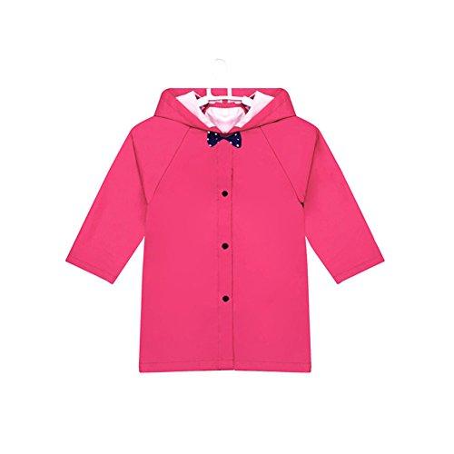 Bowknottoddler pluie Wear mignon bébé Veste de pluie imperméable pour bébé Rose S (80–95 cm)