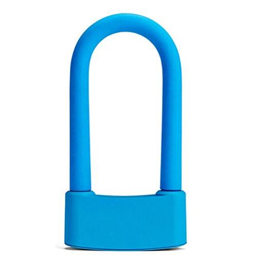 RUIX Fahrradschloss Smart U-Lock-Sicherheit Anti-Diebstahl-Handy-APP Bluetooth-Sperre,Blue