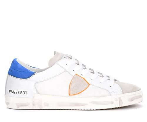 Philippe Model Sneaker Paris X In Leder Weiss Mit Orangem Wappen