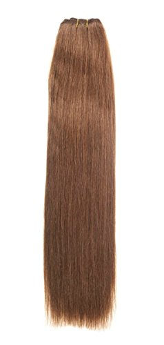 Euro Silky Weave 90 g echt haar extensies | 55,9 cm | lichtbruin (6)