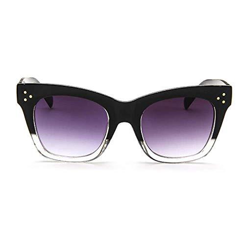 NNAA Gafas de sol Gafas de sol rectangulares de lujo Gafas de sol de moda clásicas con montura de PC para mujer