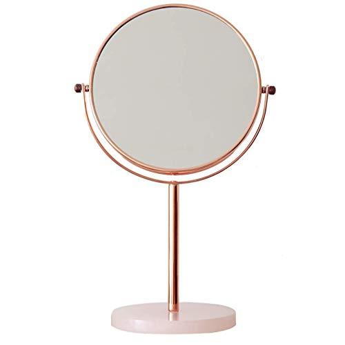 Miroirs De Maquillage en Verre Haute Définition Rotation À 360 ° en Marbre Princesse Miroir Grossissant Double Face Miroir De Maquillage