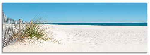 Artland Spritzschutz Küche aus Alu für Herd Spüle 160x55 cm Küchenrückwand mit Motiv Natur Strand Meer Nordsee Sand Dünen Gräser Maritim T5MA