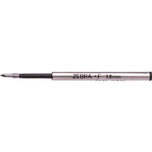 Zebra F - Recambio para bolígrafo de punta mediana F-301, F-701, 1,0mm, 12unidades, tinta de color azul