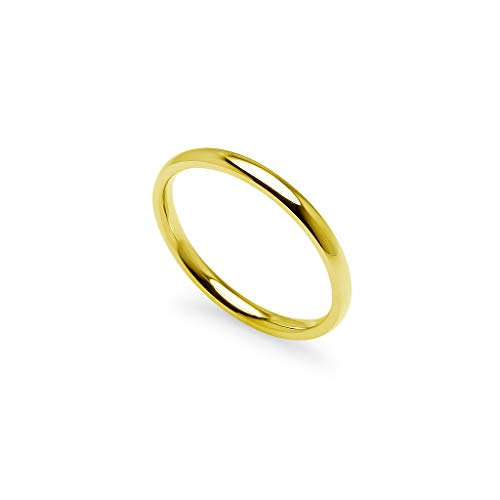 Gotta Have It - Stackable Wedding Bands | 2mm Ring in Stainless Steel Yellow Gold Tone Size Q½ (8.5)