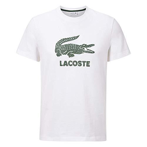 Lacoste TH0063 T-Shirt, Blanc, XL Homme