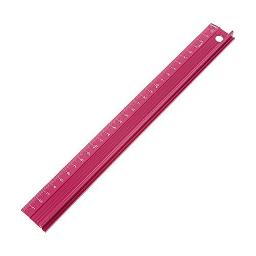 WAHSBAG Regla de medición, regla recta de aleación de aluminio profesional escala de protección ingenieros de medición herramienta de dibujo 20/30/45 cm