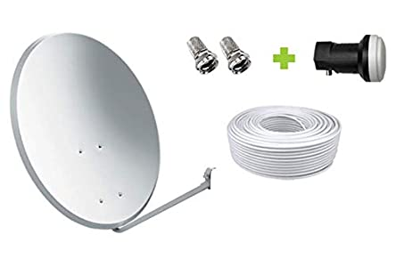 Kit Antena Parabólica GI 60 cm + LNB + 20m Cable coaxial
