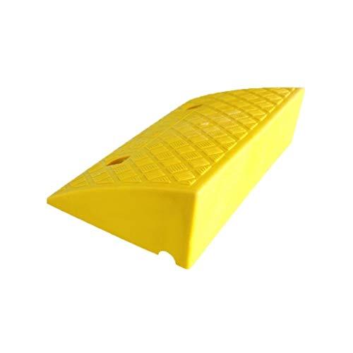 Kunststof opwaarts, anti-slip driehoek Pad Fiets Scooter Drempelklemmen Gemak Winkel De Winkel Ingang Rolstoeloprijplaten 49.5 * 26.5 * 10.5CM Geel