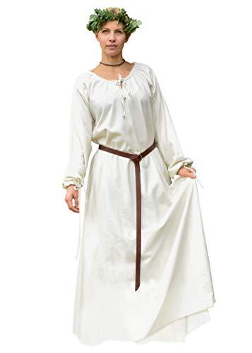 Battle-Merchant Mittelalterkleid Ana - Natur XXL - Wikingerkleid - Mittelalter Kleid - Wikinger - LARP …