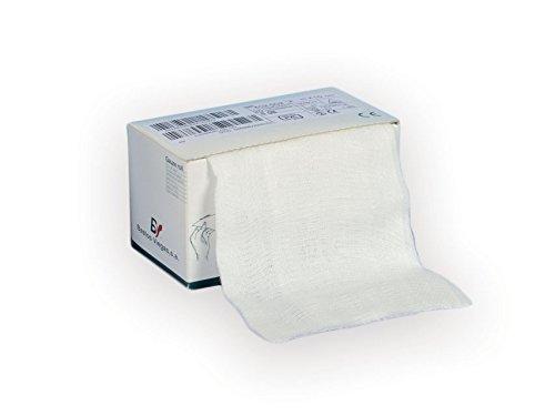 Gima – Rollos de gasa 100% algodón, detectables a los rayos X, ancho 80 cm, 8 capas, 20 hilos/cm2, medida 80 cm x 2 m