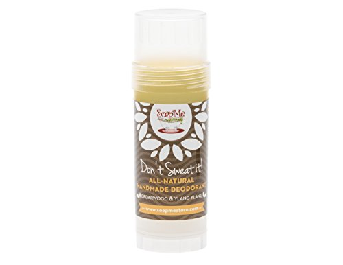 Don't Sweat It All Natural Citrus Fresh Deodorant Stick for Women, Men and Kids (Organic, Vegan, Cruelty Free) Contains No Gluten, Aluminum Or Parabens, (Cedarwood & Ylang Ylang)