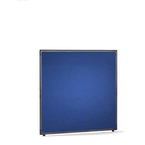 Filz-Raumteiler - Rahmen schiefergrau - blau, HxB 1300 x 1300 mm - Absperrung Akustikwand Akustikwände Paneele zur Raumtrennung Raumteilung Raumtrennwand Raumtrennwände Schallschutzwand