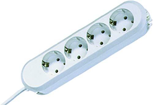 Bachmann 381.221K Steckdosenleiste SMART mit 4X Schutzkontaktsteckdosen, Zuleitung 1,5 m, Weiß