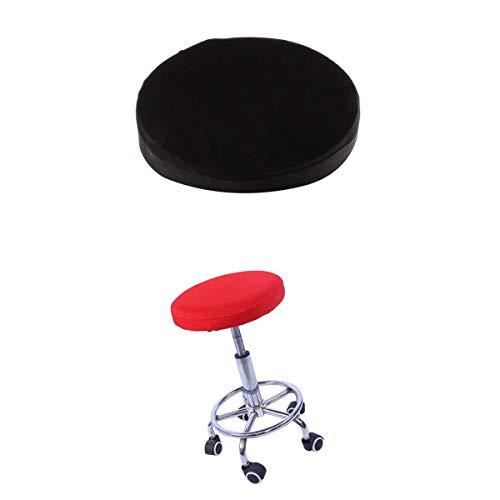 MagiDeal 2-pack elastisk barstol täcker runda stolskuddöverdrag från