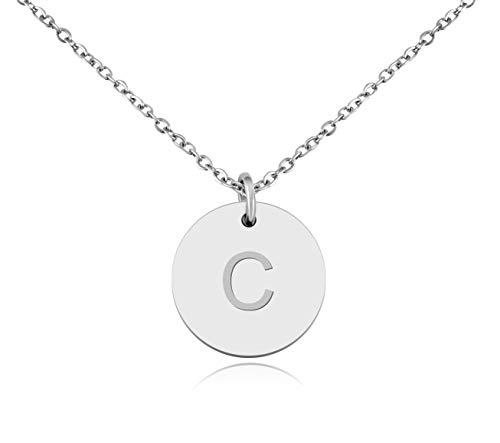 """Nuoli® Kette mit Buchstabe """"C"""" Silber (45cm) hübsche Buchstabenkette für Frauen"""