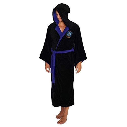 Groovy Ravenclaw Harry Potter badjas met capuchon, polyester, eenheidsmaat, zwart