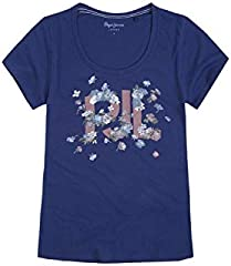 Pepe Jeans Camiseta de Manga Corta Doreen Azul para Mujer
