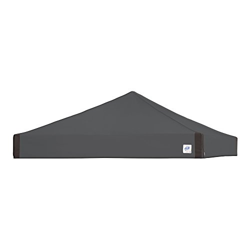 E-Z UP Replacement Top 10'x10' Pyramid Instant Shelter Canopy Top - Steel Gray