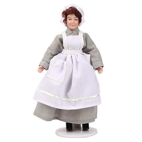 YOUTHINK Puppenhaus Miniatur Porzellan Puppe Modell Ornament Puppe Chef Frau Dienerin Puppenhaus Zubehör Diener Miniatur Porzellan Menschen(Chef)