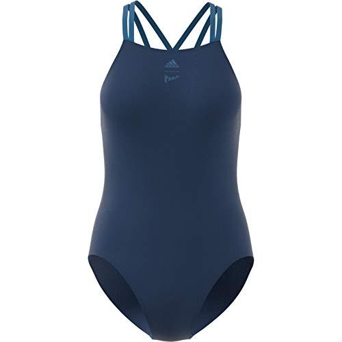 adidas Damen Reg 1Pc Par Badeanzug, blau, 34