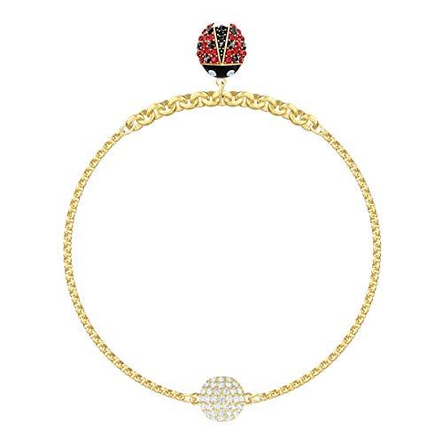 Swarovski Remix Collection Ladybug Strand, Multicolor, Baño en Oro
