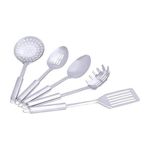 Amazon Basics Stainless Steel 5-Piece Cooking Utensil Set