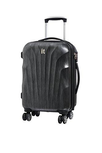 it luggage Momentum 8 Wheel Hard Shell Single Expander Suitcase Cabin with TSA Lock Maleta, 56 cm, 50 Liters, Gris (Charcoal Grey/Black Brushed)