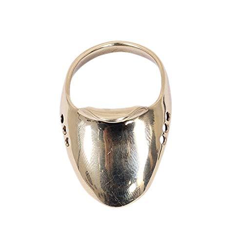 ACAMPTAR PráCtica Tiro con Arco Anillo de Pulgar Catapulta Caza Protector de Dedo Tradicional Tiro con Arco Accesorios Seguros