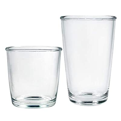 Luminarc Cocoon Drinkware Set, 16-Piece Mixed, Clear