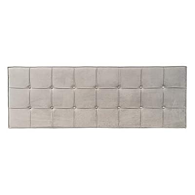 Esta fabricado con: tejido de terciopelo. Sus medidas son: 180x7x64 cm. Encaja en ambientes de estilo: contemporáneo, clásico, moderno. Un producto recomendado para uso en dormitorio. Material: Terciopelo (100% poliéster). Relleno: Foam. Gramaje del ...